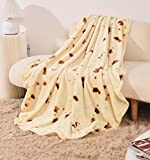 80 inches Burritos Blanket, BUG HULL Double Sided Tortilla Throw Blanket for Adults and Kids, Round Funny Soft Novelty Giant Food Blanket Wrap Blankets for Indoors, Outdoors, Travel, Home and More