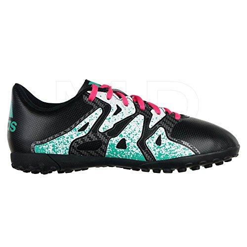 Adidas X 15.4 TF J, Zapatillas de Tenis Unisex niño, Negro (Negro/(Negbas/Menimp/Ftwbla) 000), 35.5 EU
