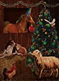 """Selmad Deko-Fahne für den Garten, Motiv """"Merry Christmas"""", für kleine Katzen, doppelseitig, Beagle, Hunde, Weihnachtszitat, Haus-Hof-Flagge, für den Außenbereich, 30,5 x 45,7 cm"""
