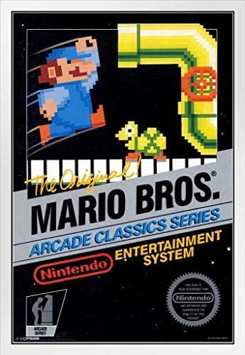 Geek Girl Gift Video Game Decor Burglars 80s Super Mario Brothers Art Print 11 x 14 Print