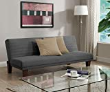 Best Futon Frames - DHP Dillan Convertible Futon with Microfiber Upholstery, Grey Review