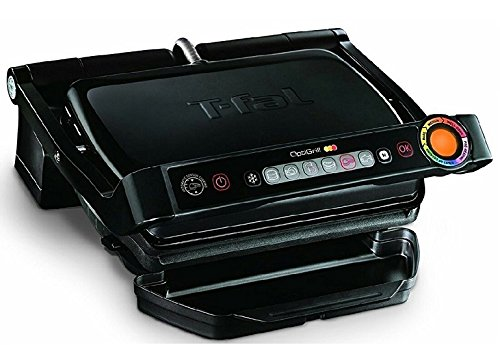 T-fal GC702853 OptiGrill Indoor Electric Grill with Removable and Dishwasher Safe Plates, 1800W,...