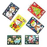 STOBOK 4 Pack de Tarjetas de Navidad DIY Kits de fabricación Tarjetas de felicitación Materiales de fabricación Artesanía de DIY Accesorios para niños