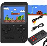 Handheld Retro Game Console - Mini Video Games Console for kids with 500 Classic for NES FC Games, Supporting 2 Players and TV Connection, 800 mAh Rechargeable Battery for Kids Men & Women (BLACK)