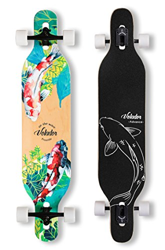 VOLADOR 42inch Freeride Longboard Complete Cruiser (Drop Through Deck