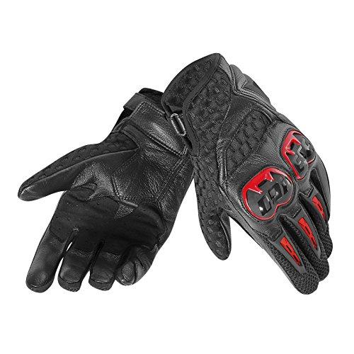 Dainese 1815837_C36_XL Guantes para moto, Lava Rojo/Negro, XL