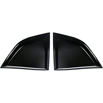 Window Scoops Fits 2008-2020 Dodge Challenger XE V2 Style Gloss Black PP Window Vents Guards IKON MOTORSPORTS
