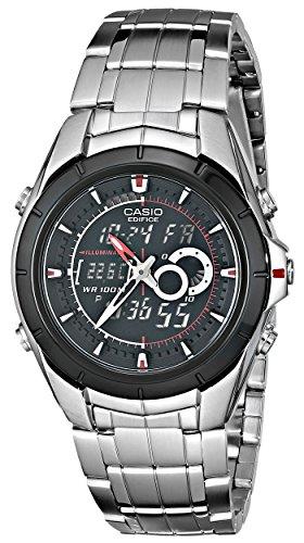 Relógio masculino Casio EFA119BK-1AV Ana-Digi Edifice aço inoxidável