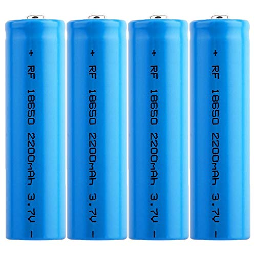 4 pezzi Batteria al litio per sigaretta elettronica 18650 Akkus 18650 Batterien LI-MN Nipplo 3.7V Pulsante superiore Batteria 18650 cilindrica Alta capacità per Torcia Strumento elettronico
