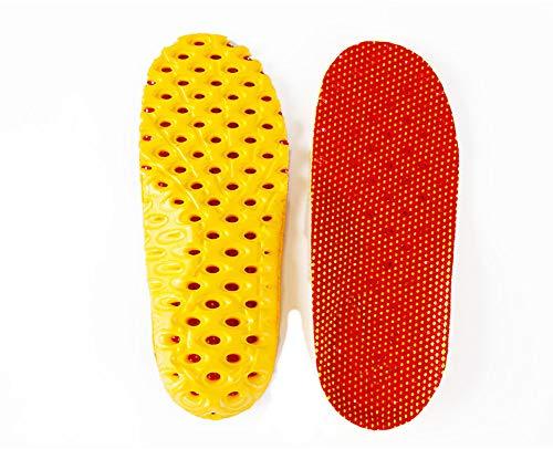 boowhol de Cómodo transpirable sport EINLAGEN infantil Plantillas Panal Plantillas Niño y Niña amarillo amarillo 28 EU(17.8 cm)