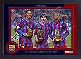 SGH SERVICES Gerahmtes Poster Ronaldinho Lionel Messi