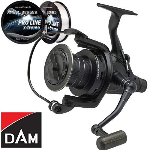 Dam Quick 6 SLS 7000 FS Karpfenrolle Freilaufrolle Angelrolle + Pro Line x-Treme Schnur 0,35mm