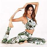 Leggings Nuevas Mujeres Conjunto De Yoga Floral Ropa De Fitness Ropa Deportiva Femenina Mujeres Corriendo Traje De Gimnasio Ropa Deportiva Mujeres Deportes Impreso Conjun