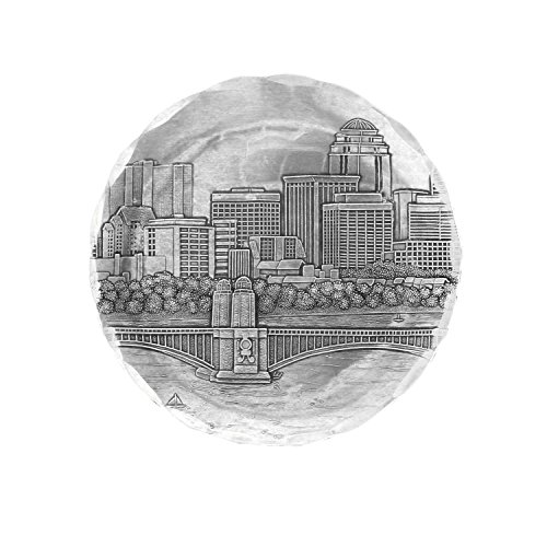 Wendell August Forge Boston Coaster, Silver, Hand-hammered Aluminum, Keeps Tabletops Safe, 4.5 Inch Round Coaster