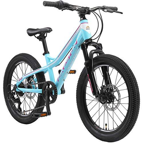 BIKESTAR Bicicleta de montaña de Aluminio Bicicleta Juvenil 20 Pulgadas de 6...