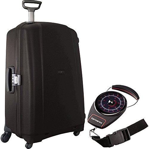Samsonite 40859-1041 F'Lite GT 31 Inch Spinner Zipperless Suitcase - Black Bundle with Manual Luggage Scale