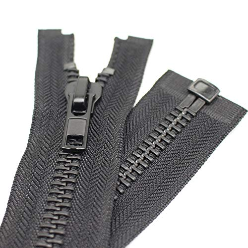 #10 27 Inch Separating Jacket Zipper Black Nickel Metal Zipper Heavy Duty Metal Zippers for Jackets Sewing Coats Crafts 27 Nickel