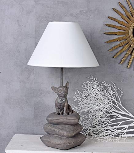 Tischlampe Chiwawa Hundelampe Tischleuchte Chihuahua Nachttischlampe Leuchte Palazzo Exklusiv