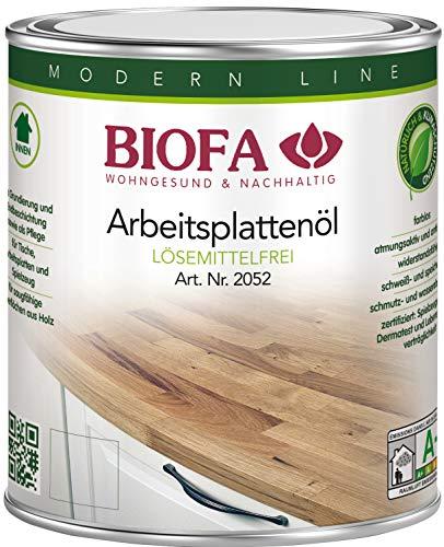 Biofa | Arbeitsplattenöl | lösemittelfrei | 2052 Größe 0,375 L