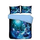 3D Butterfly Fairy Cartoon Bedding Set Twin Full Queen King Size Duvet Cover Pillowcases Home Textiles Girl Bedding Set (C,Queen)