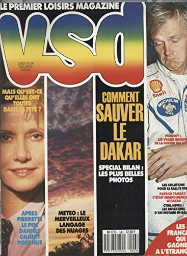 Vsd N°543 28 Janvier Au 3 Fevrier 1988: Daniele gilbert pose nue Langage des nuages