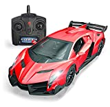 QUN FENG Remote Control RC CAR Racing Cars Compatible with Lamborghini Veneno 2.4G 1:24 Toy RC Cars Model Vehicle for Boys 6,7,8 Years Old,red