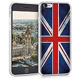kwmobile Hülle kompatibel mit Apple iPhone 6 / 6S - Hülle Handy - Handyhülle Retro Flagge Großbritannien Rot Weiß Blau