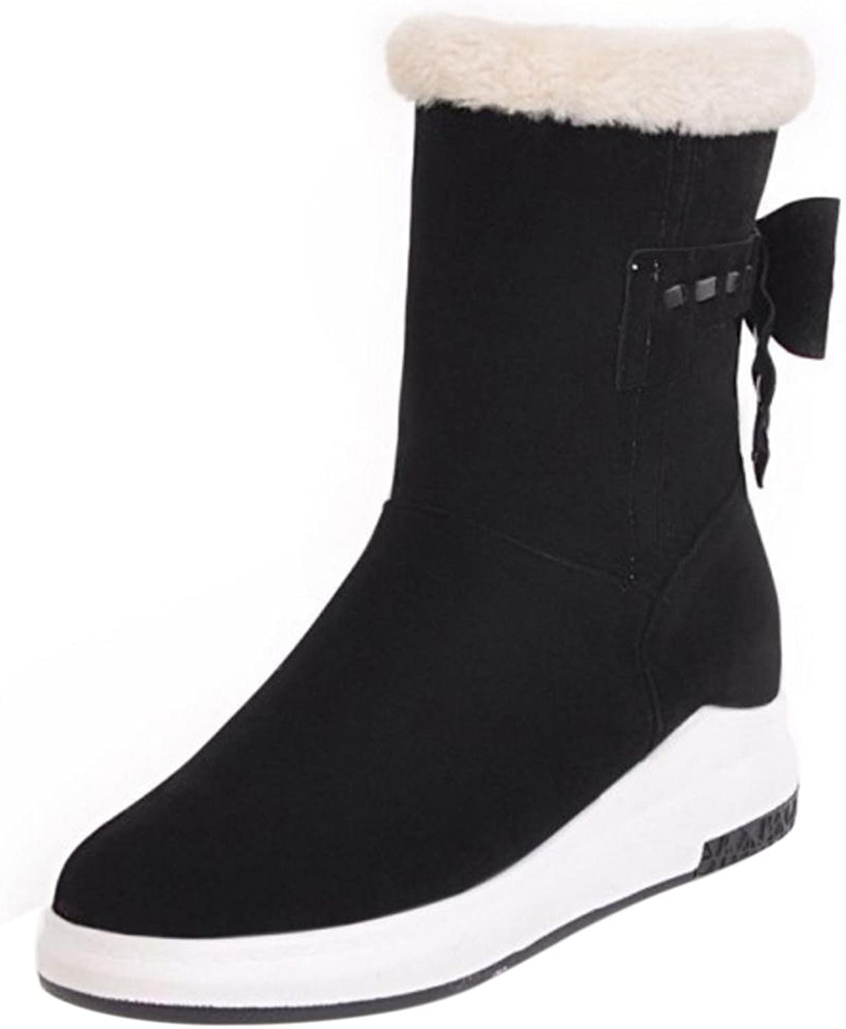 KemeKiss Women Boots Pull On Low Hidden Heel