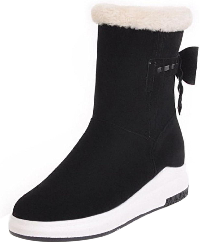 KemeKiss Women Boots Pull On Low Hidden Heel