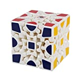 Andux Land 3D Gear Cube I Generation Painted Stickerless Twisty Puzzle 3x3x3 YXMF-03 White