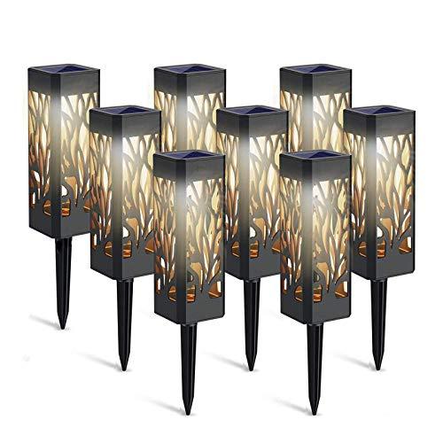 Lámparas Solares para Jardín 8 Piezas lámpara LED para exteriores Luces Solar Exterior lámpara solar decorativa, patio y patio de jardín