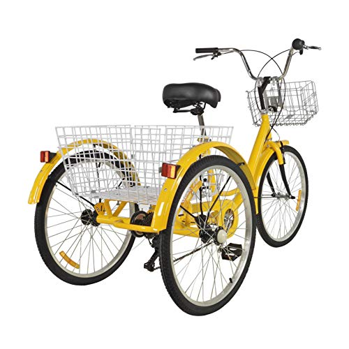 AUTOECHO 24' Adult Tricycle Front and Rear Fenders, 3 Wheel Adult Trike Bike,...