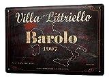 LEotiE SINCE 2004 Plaque en Métal Métallique Poster Mural tin Sign Alcool Retro Vin Rouge Italie Bar Pub Restaurant