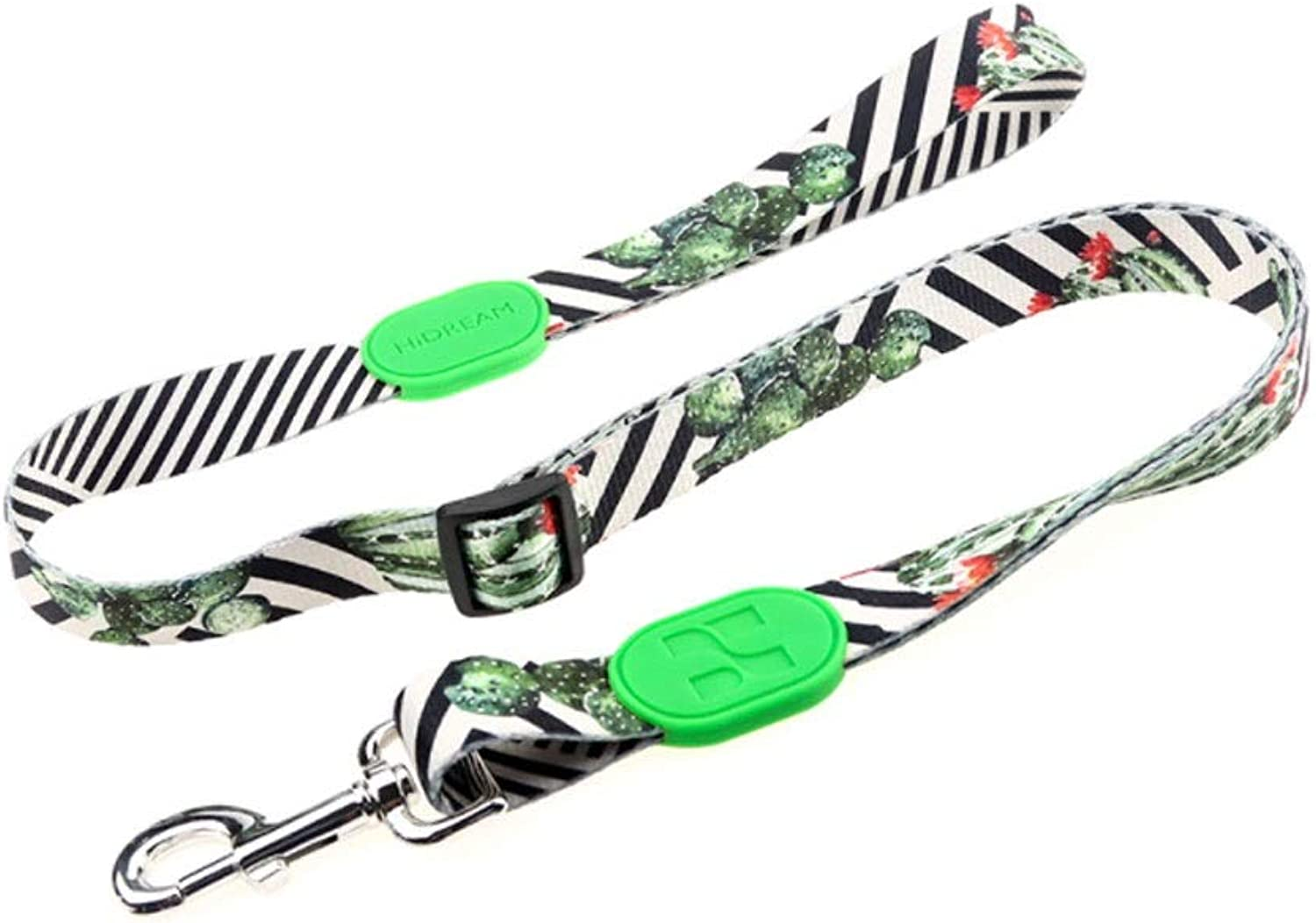 Nylon Material Dog Leash Small and Medium Dogs Leash XS S M L XL Comfortable and Safe (color   Cactus, Size   M)