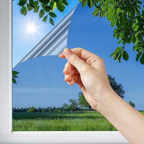 Dimexact Sonnen-/Wärmeschutzfolie für Fenster und Glasscheiben, Innenmontage für Flächen unter 1,2 m2, Silber - 75% Reduzierung der Sonneneinstrahlung, Breite bis zu 1,52 m, Rolle