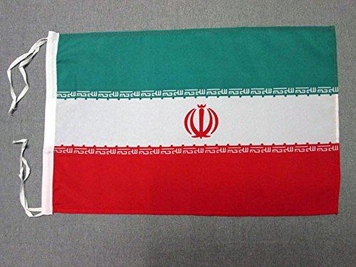 AZ FLAG Flagge Iran 45x30cm mit Kordel - IRANISCHE Fahne 30 x 45 cm - flaggen Top Qualität