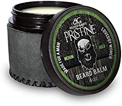 Beard Gains Pristine Luxury Mens Original Cologne Scented Beard Balm Conditioner - Medium Butter Hold - Made for A Man, Loved by Women (4oz)