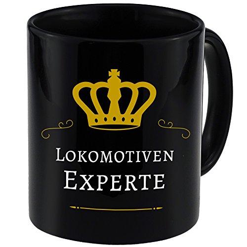 Tasse Lokomotiven Experte schwarz