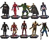 Nesloonp Hero Action Doll-Hero Character Model Set, Avengers Mini Doll Set, Spider-Man Action Doll Juguete para niños, Regalo de cumpleaños
