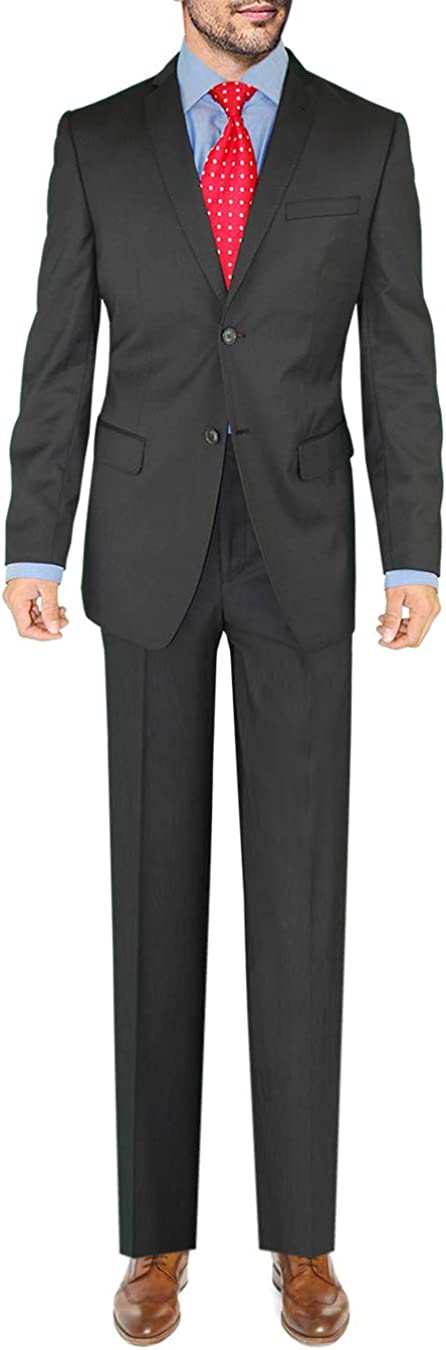 Giorgio Eleganz Men's Trim Modern Fit Clearance SALE Limited time Suit 2021 new Charcoal Bla Button 2
