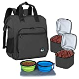 Teamoy Dog Travel Backpack, Pet Supplies Bag Tote with 2 Silicone Collapsible...
