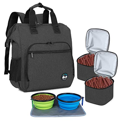 Teamoy Travel Bag for Dog Gear, Dog Travel Bag Backpack for Carrying Pet Food, Treats, Toys and Other Essentials, Ideal for Travel or Camping, Black