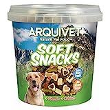 Arquivet Soft Snacks variadas para Perro - Snacks Naturales en Forma de huesitos y Corazones - Golosinas y chuches Naturales - Premios y recompensas para Perros - 800 g