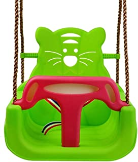 Gym Kingdom Swing 3 in1 Infant to Teenager Detachable Secure Kid Swings Home Garden Patio Indoors Outdoors Children Baby Seat Large Space Chairs Swings ( Color : Green , Size : 12.2*16.14*15.74inchs )