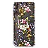 dakanna Funda Compatible con [Huawei P20 Pro] de Silicona Flexible, Dibujo Diseño [Ramo de Flores], Color [Fondo Transparente] Carcasa Case Cover de Gel TPU para Smartphone