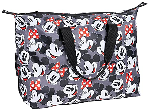 Disney Mickey & Minnie Mouse Tote Duffel Bag All Over Print Travel Carry-On