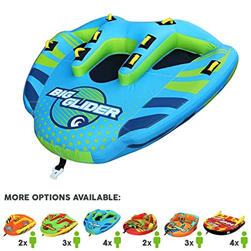 Great Deal! Big Sky Big Glider Towable, Inflatable Water Tube for 4, Boating Tube for Lake, Beach, R...