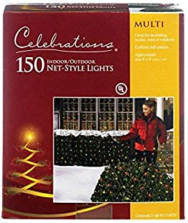 Celebration 150 Indoor/Outdoor Net-Style Lights, Multi-Color