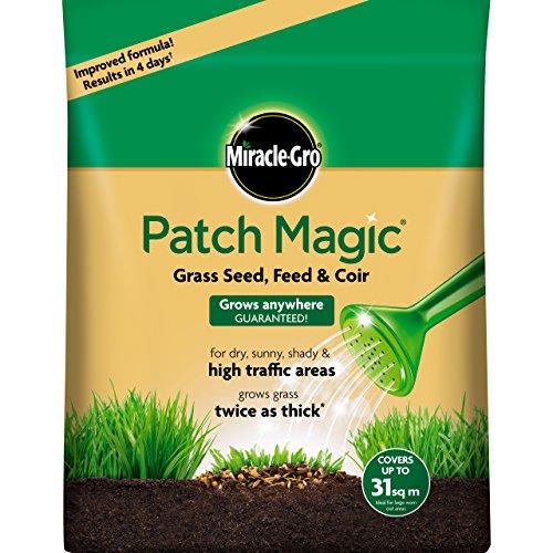 Miracle-Gro Semi per Prato Patch Magic con nutrimento e Fibra di Cocco, Sacco da 7 kg