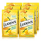 Ludens Deliciously Soothing Throat Drops, Flavor, Honey Lemon, 25 Count (Pack of 6), 6 Count